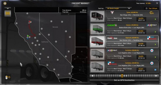 american truck simulator map