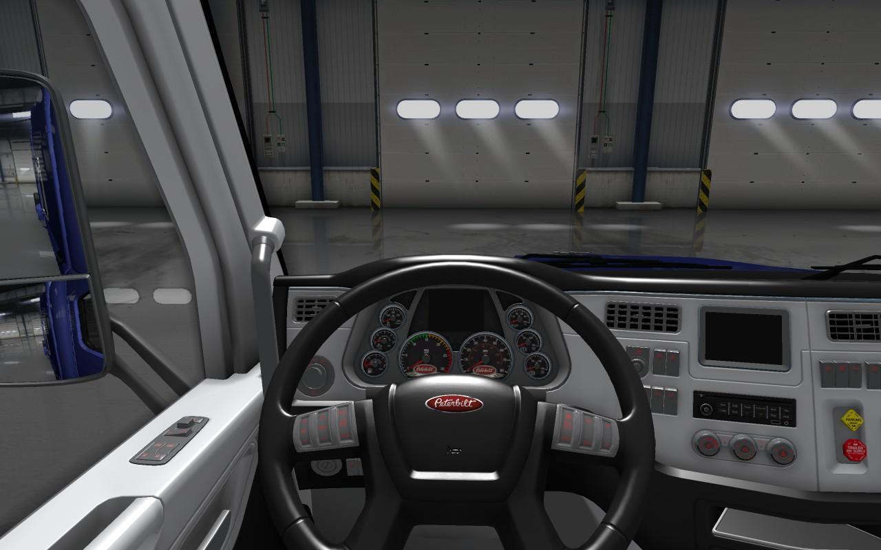Peterbilt 579 (black-white) interior