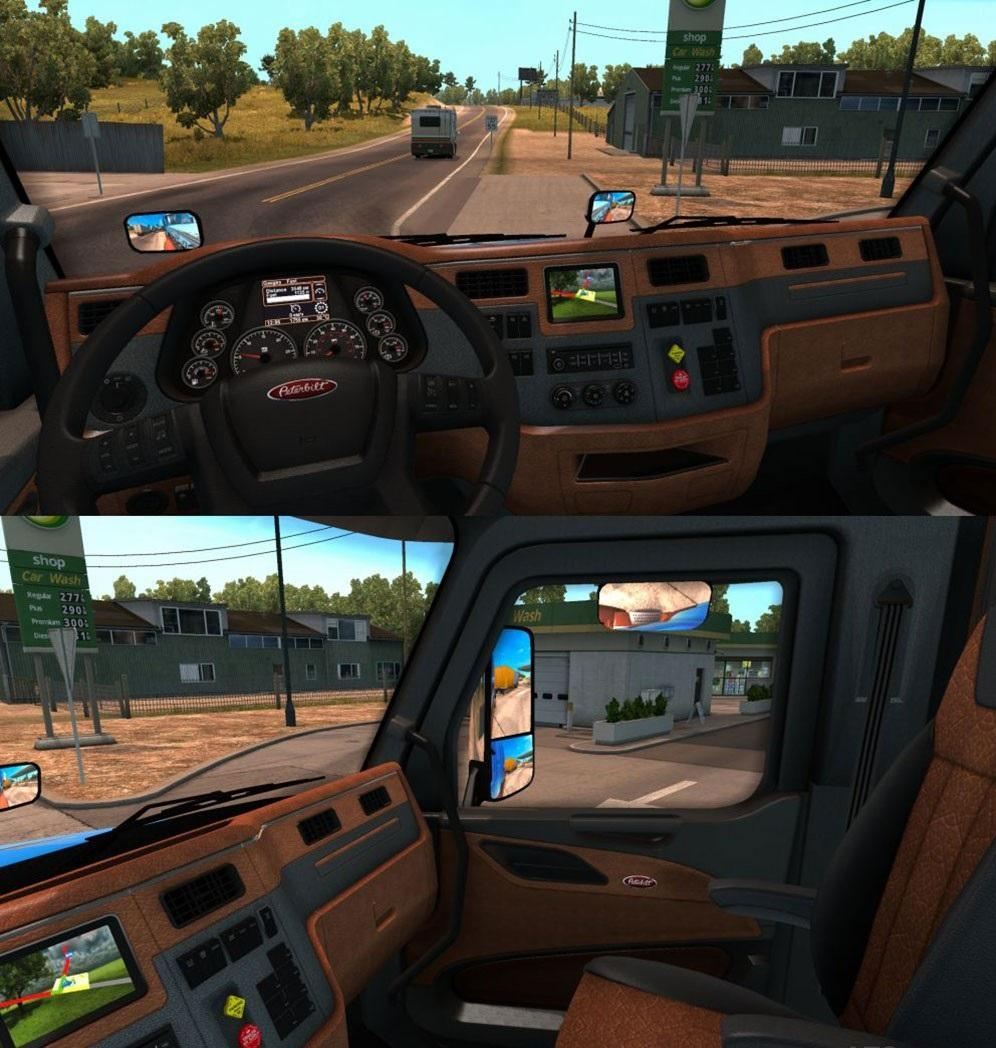 Peterbilt 579 interior engines fuel tank gear box - Peterbilt 379 interior accessories ...