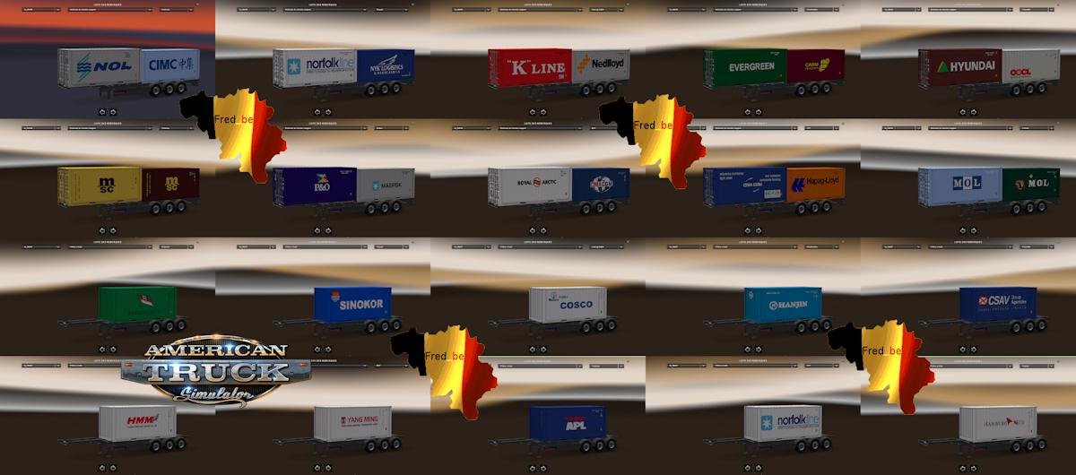 Trailer Pack Container Ets2 To Ats 1 1 X Ats Mods