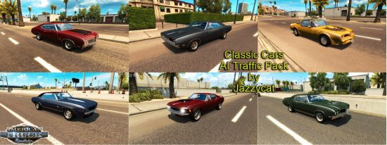 Classic Cars AI Traffic Pack by Jazzycat  v1.1