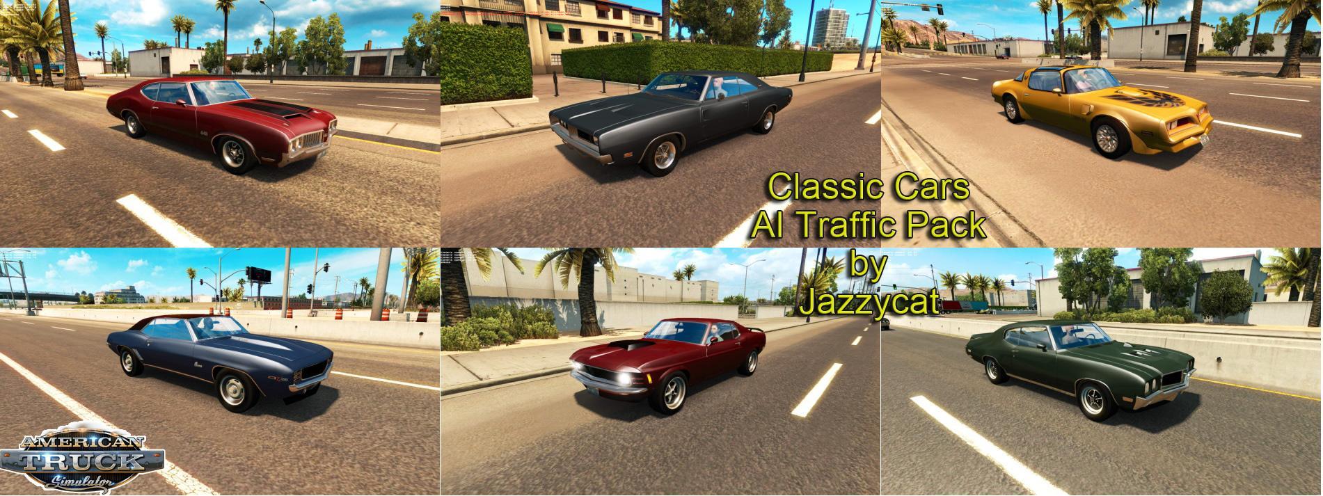 Classic Cars Ai Traffic Pack V1 1 Ats Mods