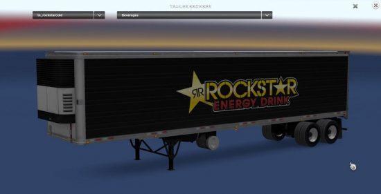 Rockstar Energy reefer trailer