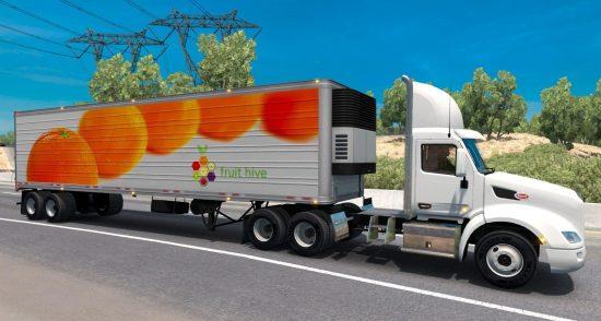 Oranges reefer trailer