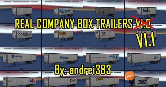 Real Company Box Trailers v1.1