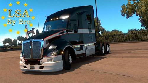 Kenworth t680 Double Bumper + Engine 625hp Multiplayer | ATS