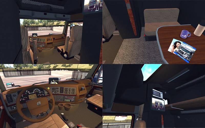 Volvo VNL670 interior