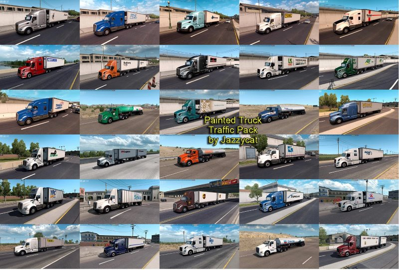 ats Painted Truck Traffic Pack