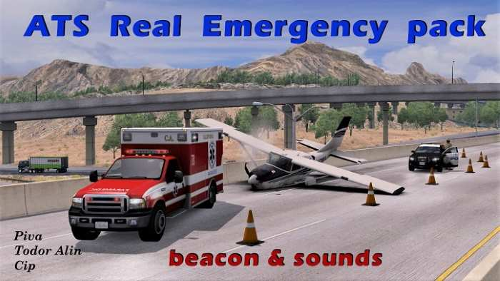 ATS mod: Real Ai Emergency pack v1.2