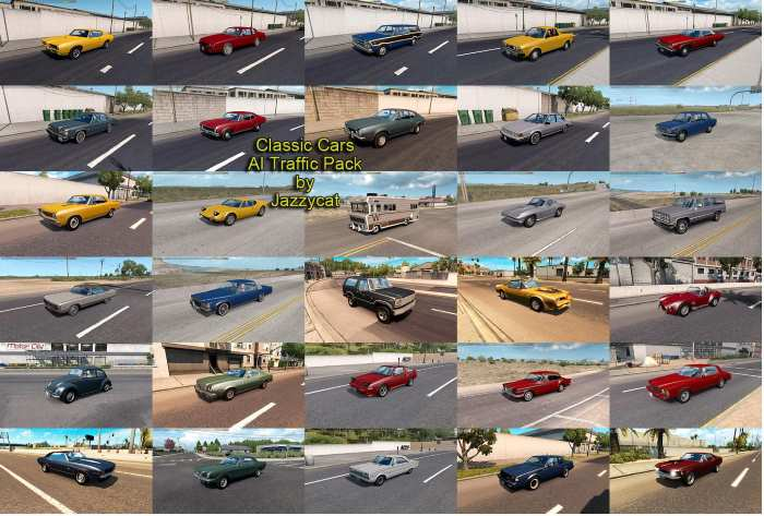 ats classic cars traffic mod
