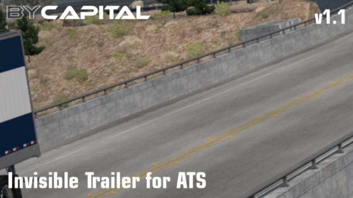 american truck simulator invisible trailer