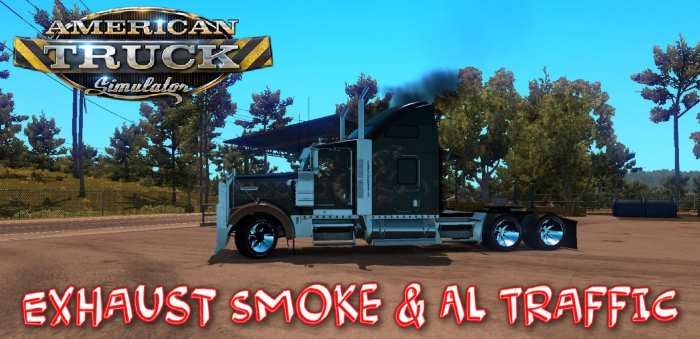 ets2 Exhaust Smoke & Ai Traffic 1.36