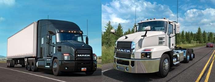 american truck simulator mack truck