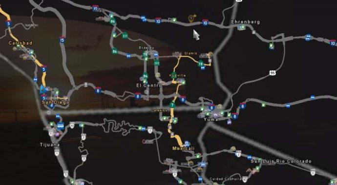 American Truck Simulator map mod