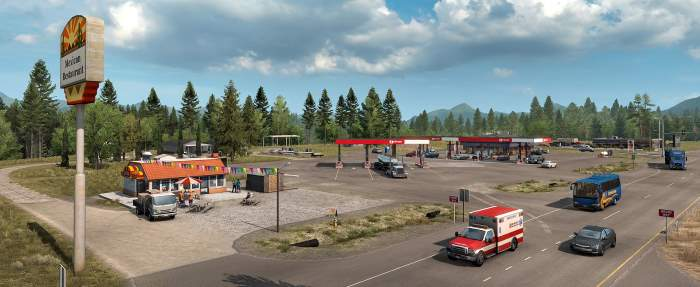 American truck simulator gas station