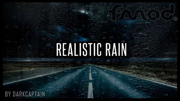 american truck simulator Realistic Rain