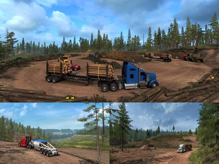 american truck simulator logging industry