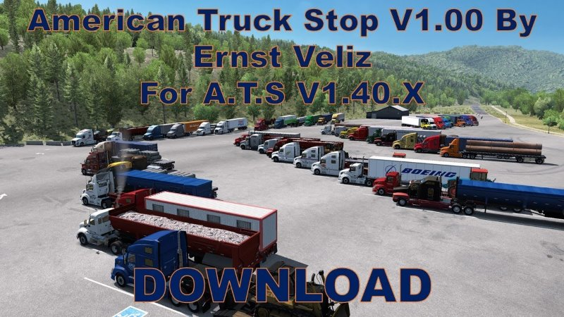 american truck stop mod