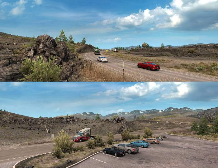 The Craters of the Moon National Monument american truck simulator