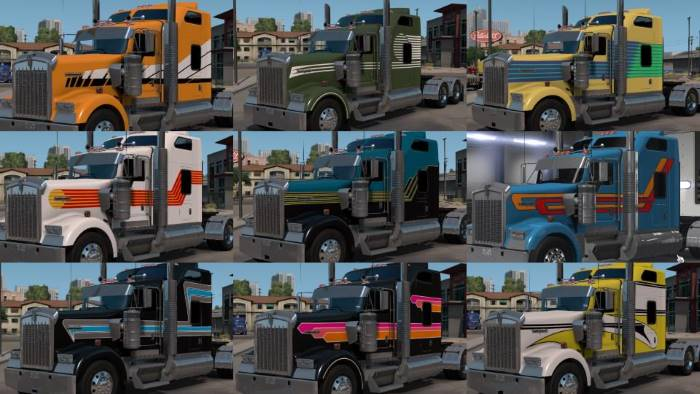 ATS W900 Skin Pack Color schemes