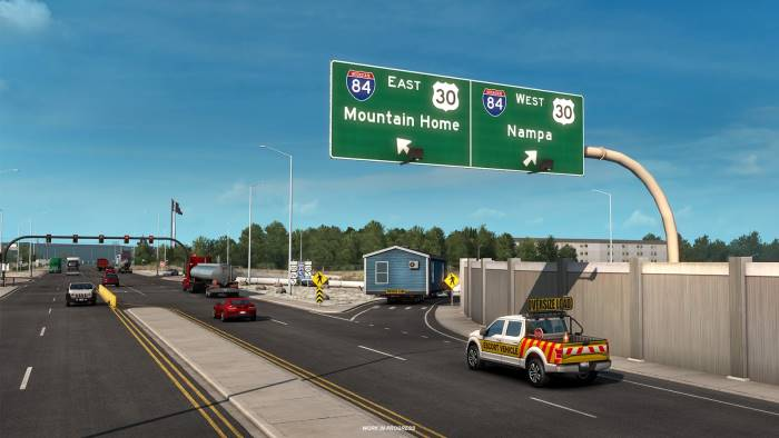 special transport near boise in american truck simulator