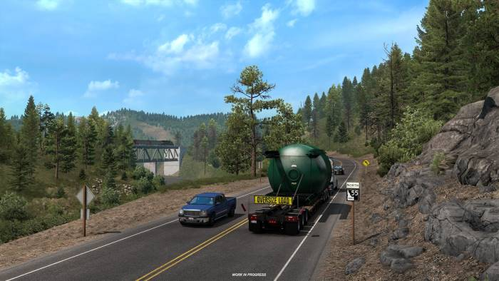special transport on route 55 idaho ats