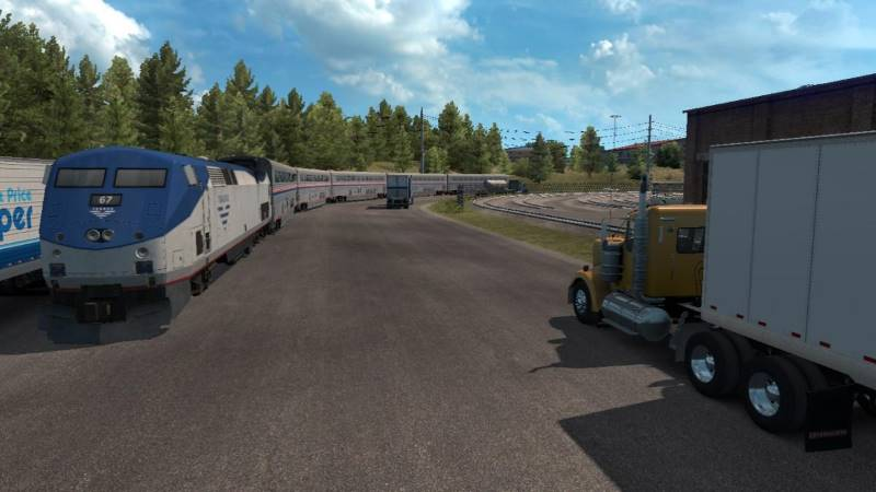 american truck simulator Trains Everywhere