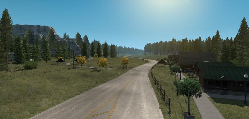american truck simulator great america map road