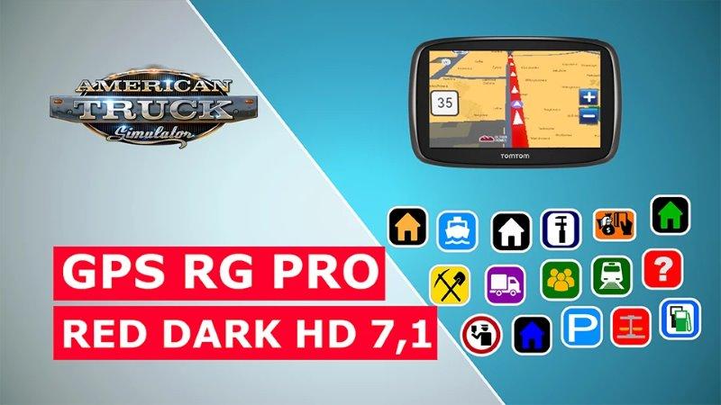 ets2 GPS RG PRO Red Black