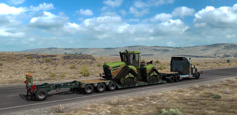 american truck simulator lowboy trailer and truck
