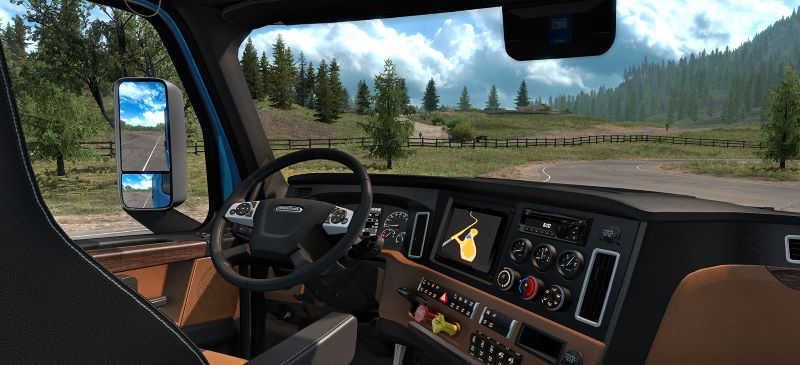 Freightliner Cascadia interior