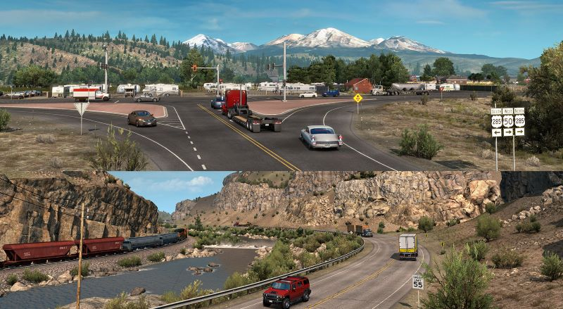 american truck simulator colorado dlc sceneries
