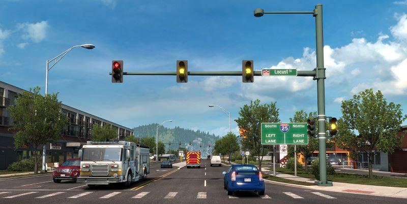 new traffic lights american truck simulator