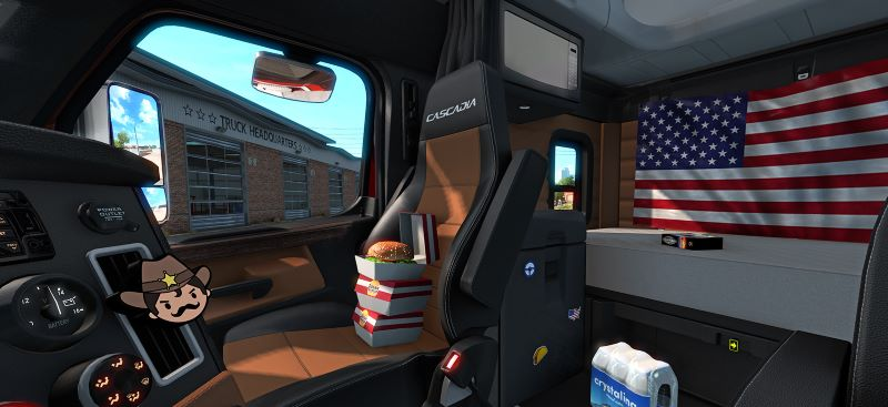 Cabin Accessories interior american truck simulator