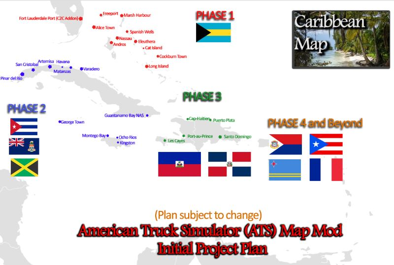 Caribbean Map ats mod