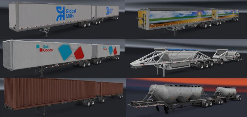 Freight Market SCS Turnpike Doubles ats trailer