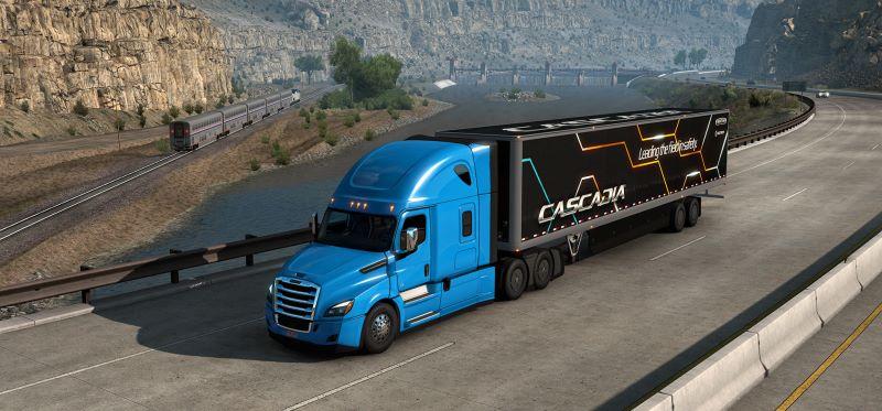 freightliner cascadia american truck simulator