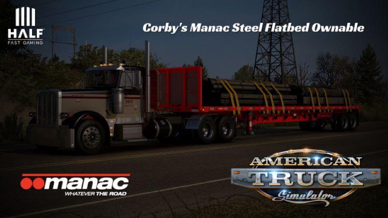 ats mod Manac Steel Flatbed