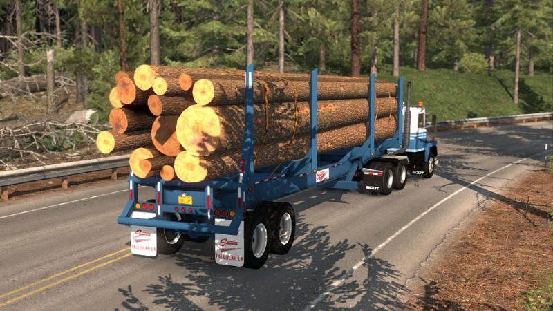 Log Trailer ats mod