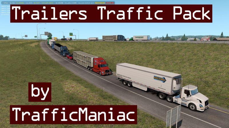 ats mods Trailers Traffic Pack TrafficManiac