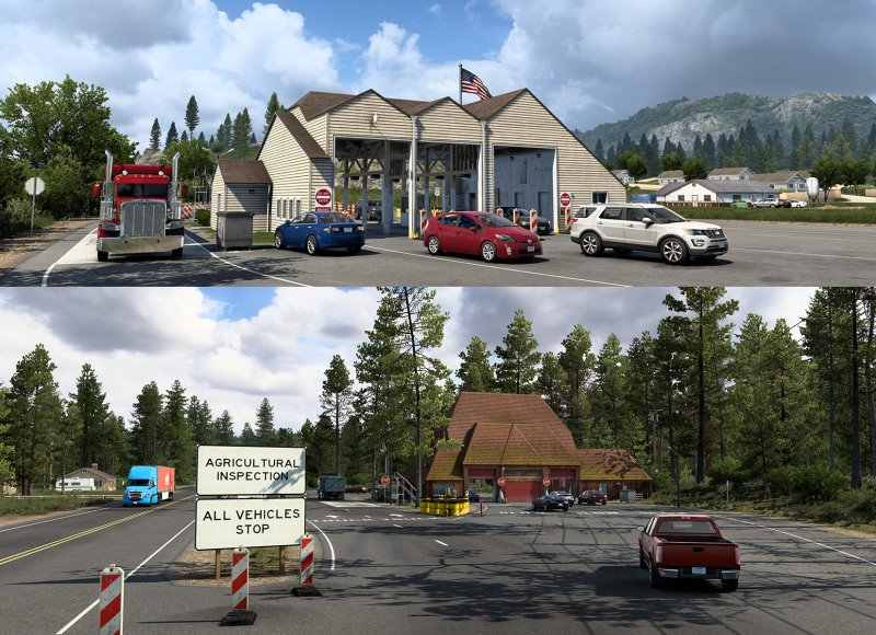 american truck simulator agricultural inspection