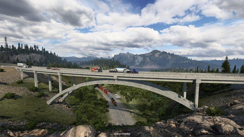 american truck simulator california map mod