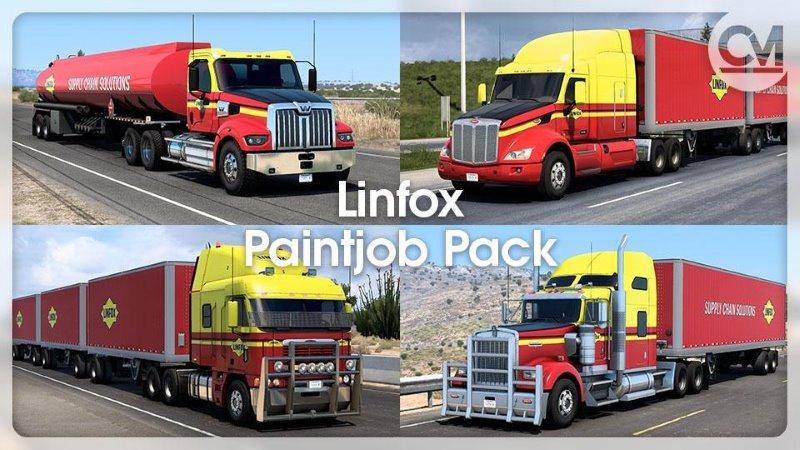 Linfox Painjob Pack Australian ats mod