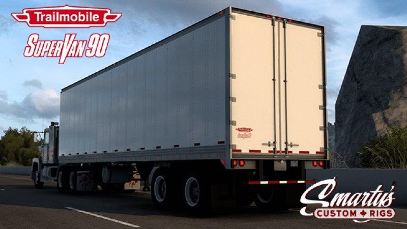 ats trailer mod Trailmobile SuperVan 90