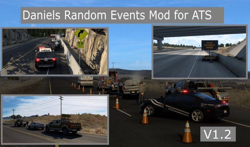 ATS mod Daniels Random Events traffic