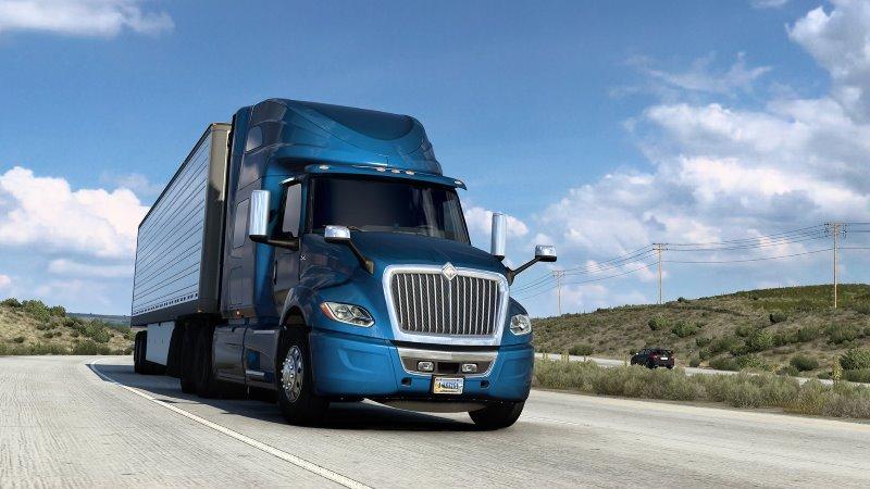american truck simulator international lt
