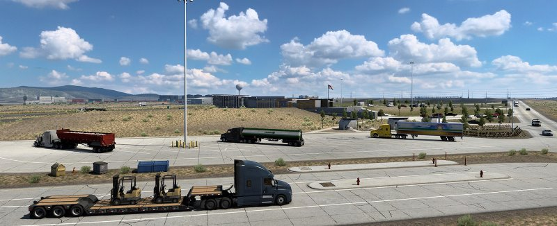american truck simulator parking